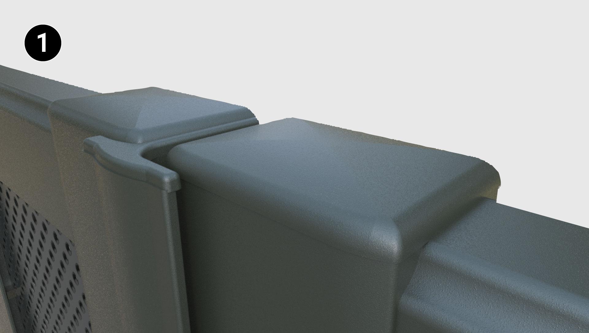 Bouchons en aluminium assortis au portail