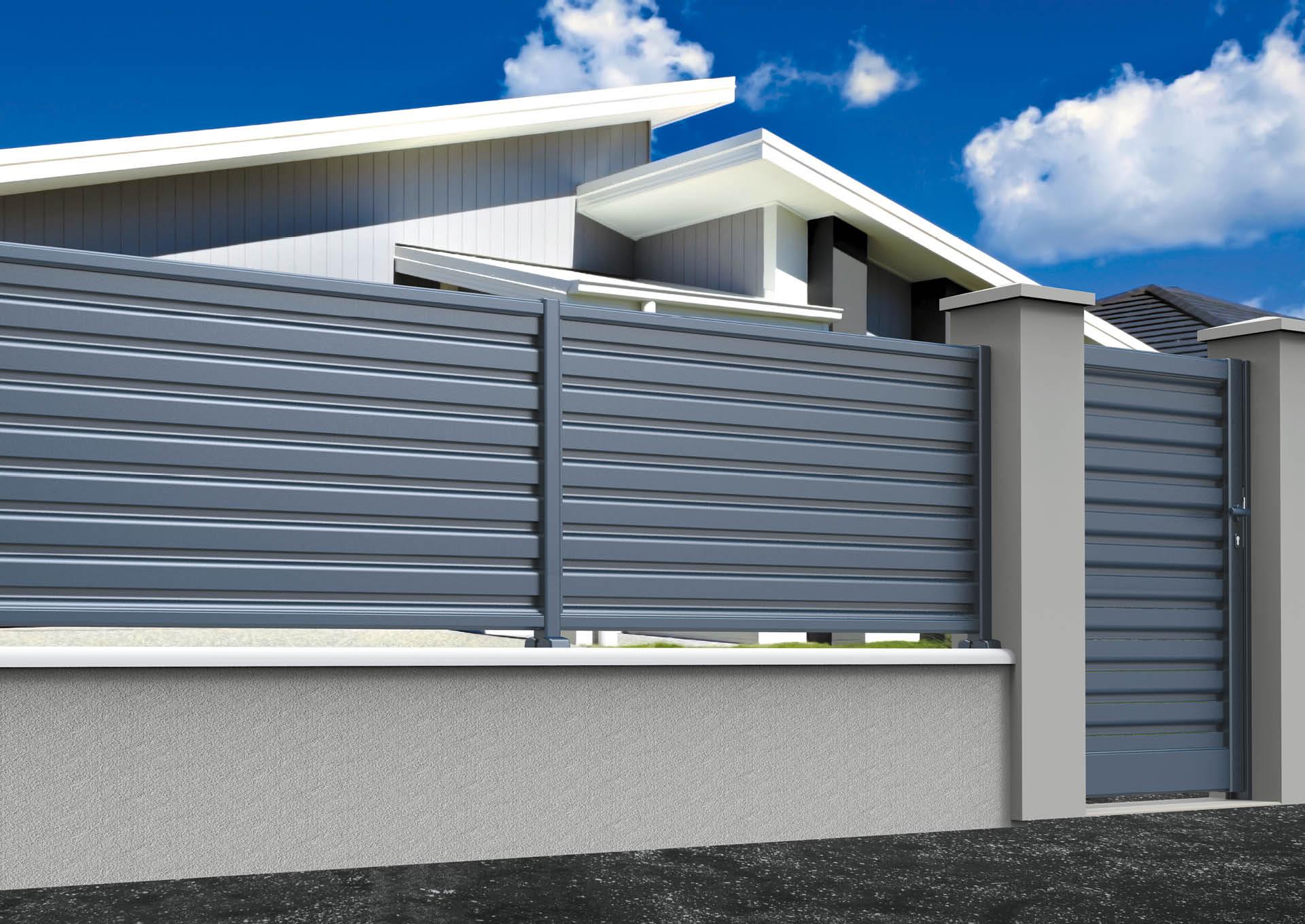 Clôtures aluminium lames vent
