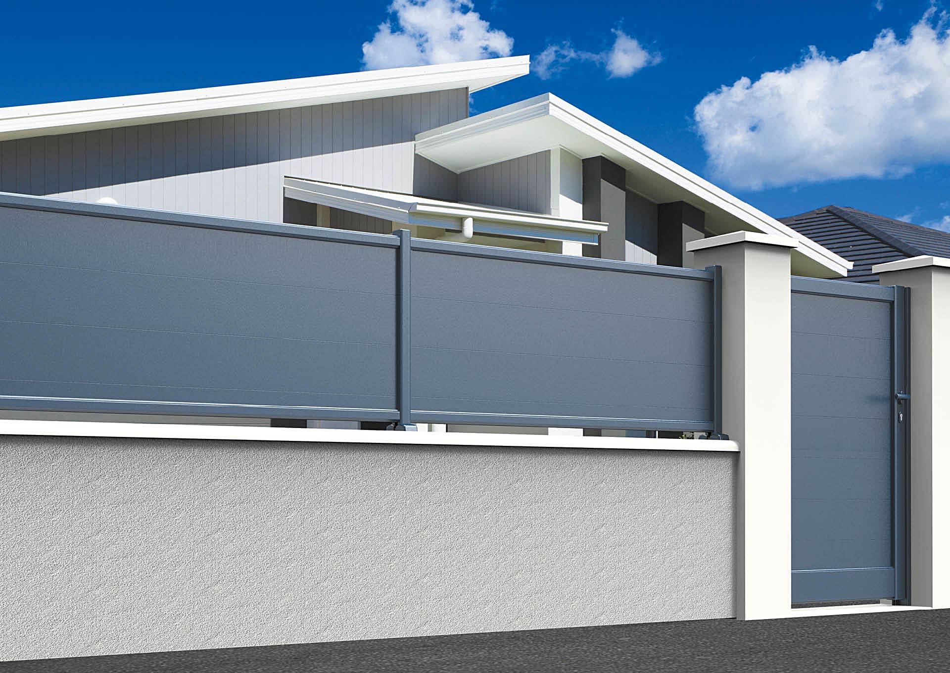 Clôture en aluminium 9000_CL_P2 Lames horizontales 200 mm